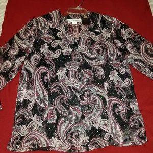 Gloria Lance 2 piece  blouse with tank